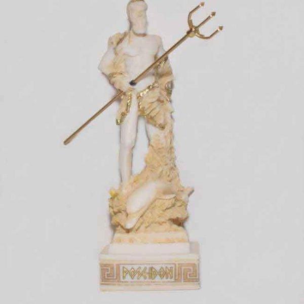 Ancient Greek Statue Poseidon gold