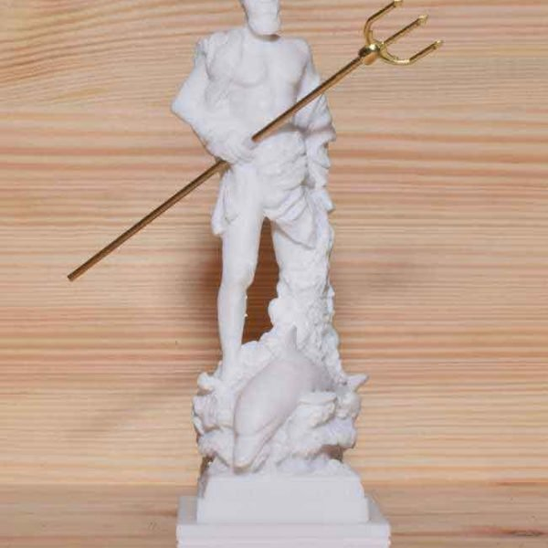 Ancient Greek Statue Poseidon white 1