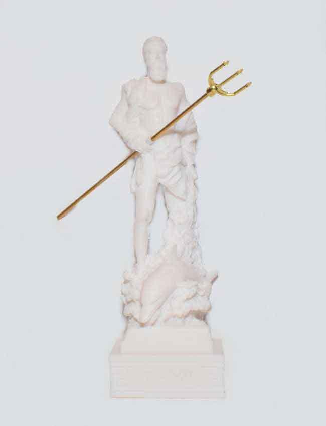 Ancient Greek Statue Poseidon white