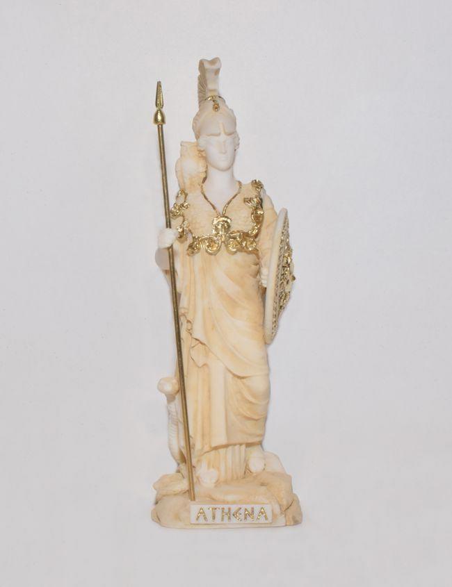 Ancient Greek Statue Athena gold